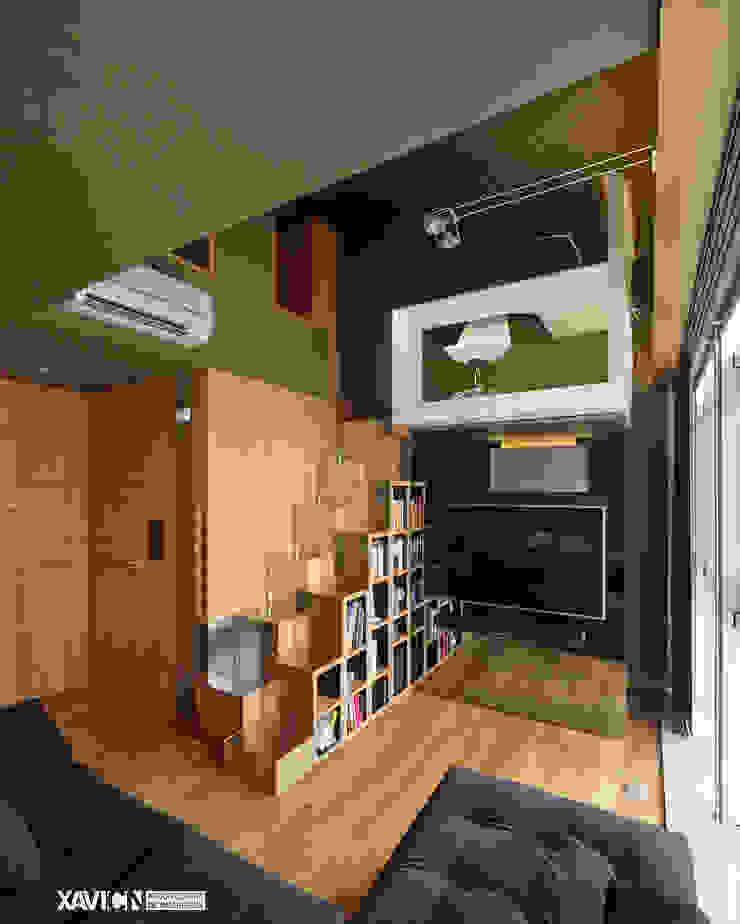 Piso Pitelos Salones de estilo moderno de XaviCN Moderno Madera Acabado en madera
