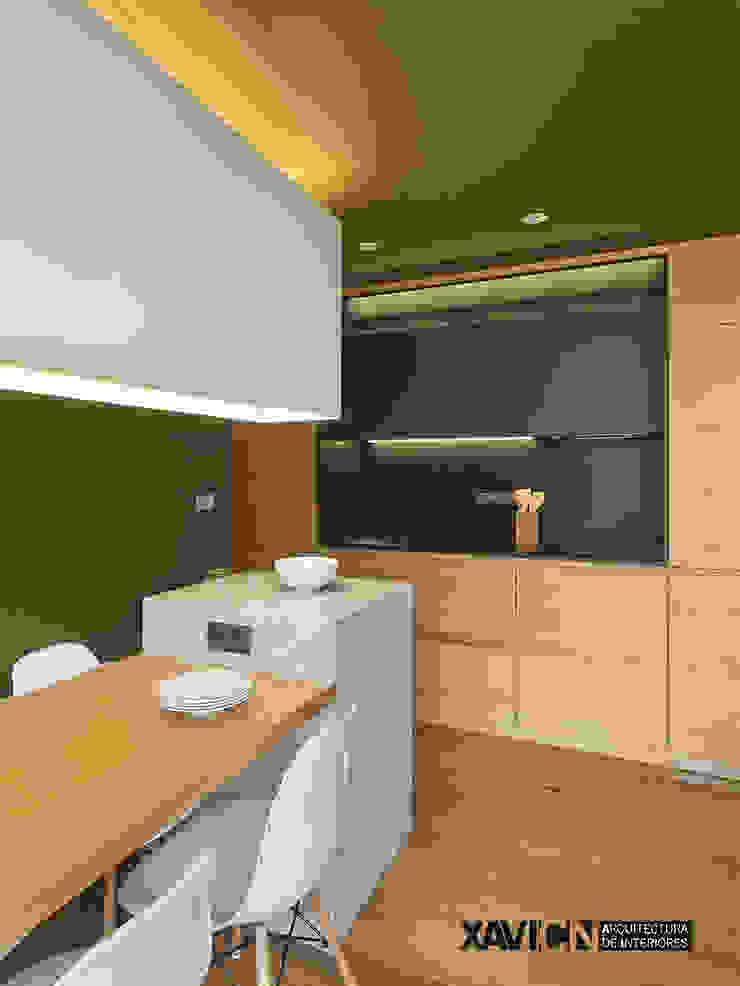Piso Pitelos Cocinas de estilo moderno de XaviCN Moderno Madera Acabado en madera