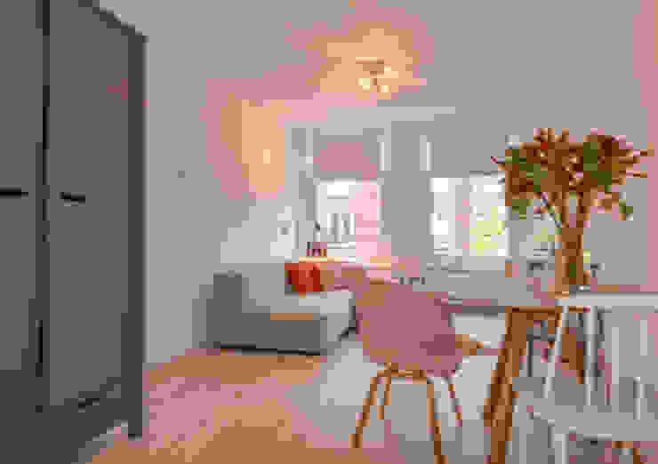 Interieurontwerp appartement Amsterdam Scandinavische eetkamers van Studio Binnen Scandinavisch
