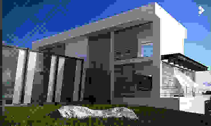 Fachada posterior Casas modernas de CDR CONSTRUCTORA Moderno