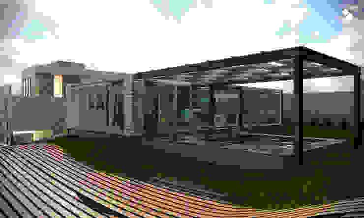 Terraza Balcones y terrazas modernos de CDR CONSTRUCTORA Moderno