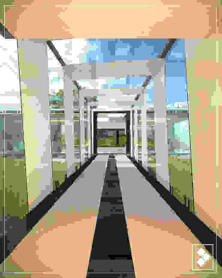 Pasillo Pasillos, vestíbulos y escaleras modernos de CDR CONSTRUCTORA Moderno