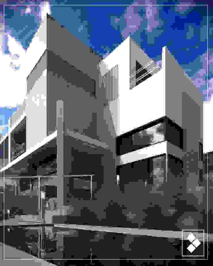 Fachada lateral Casas modernas de CDR CONSTRUCTORA Moderno