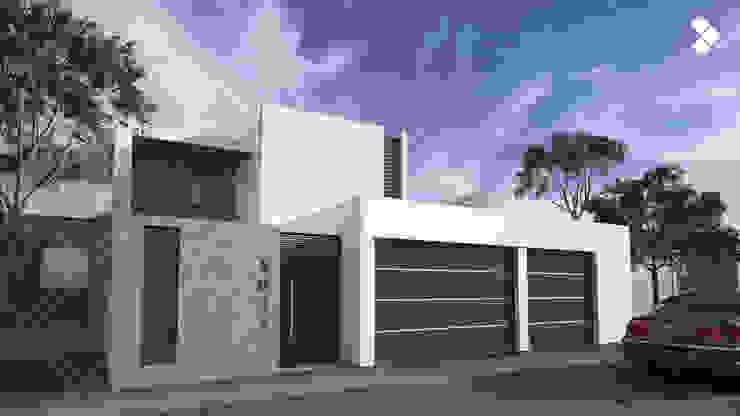 Fachada principal Casas modernas de CDR CONSTRUCTORA Moderno