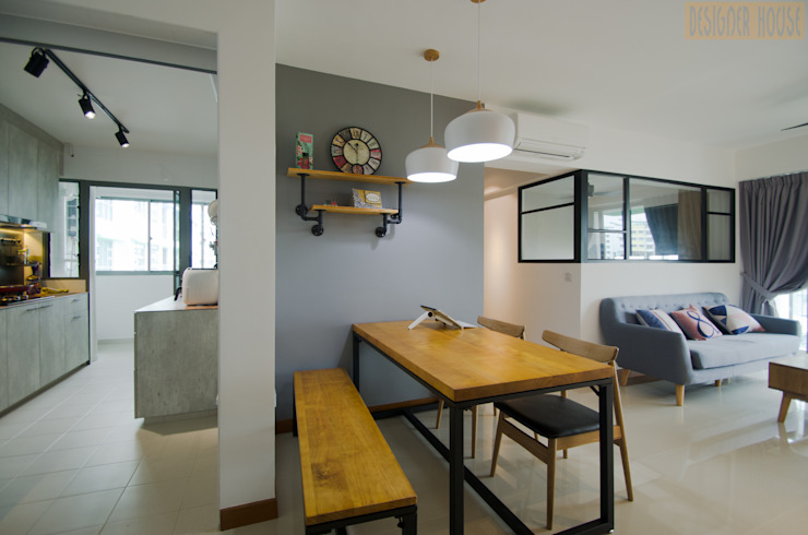 Punggol Waterway Brooks BTO Minimalist dining room by Designer House Minimalist