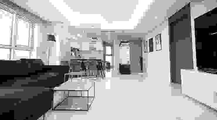 现代客厅設計點子、靈感 & 圖片 根據 homelatte 現代風