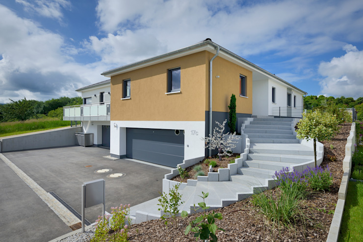 Projekty,  Domy zaprojektowane przez Heinz von Heiden GmbH Massivhäuser, Nowoczesny