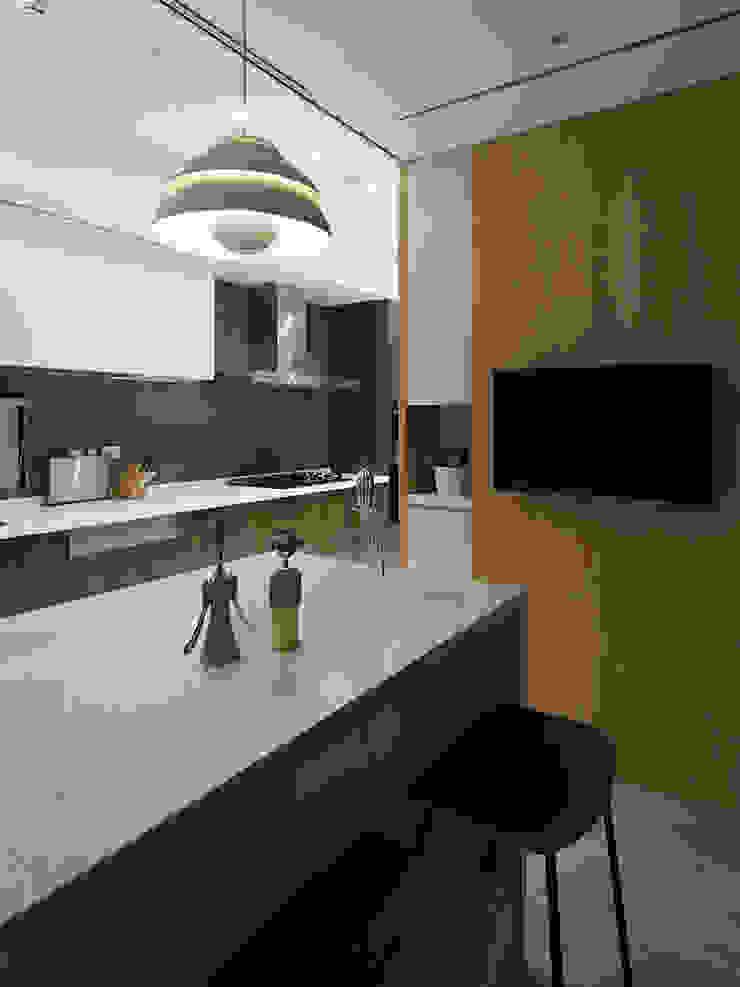 等化器 ─ 微笑曲線;Equalizer—The Smile Curve 現代廚房設計點子、靈感&圖片 根據 禾光室內裝修設計 ─ Her Guang Design 現代風