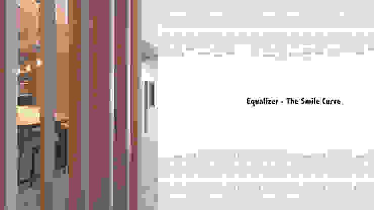 等化器 ─ 微笑曲線;Equalizer—The Smile Curve: 現代  by 禾光室內裝修設計 ─ Her Guang Design, 現代風