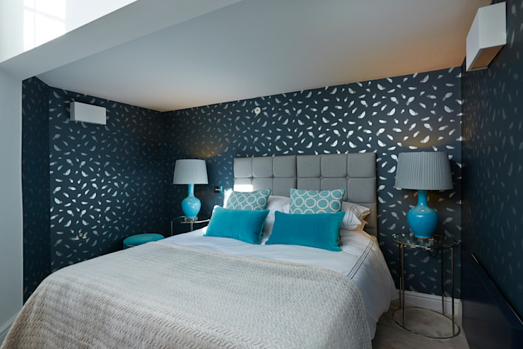 Guest Bedroom Etons of Bath Modern style bedroom Blue