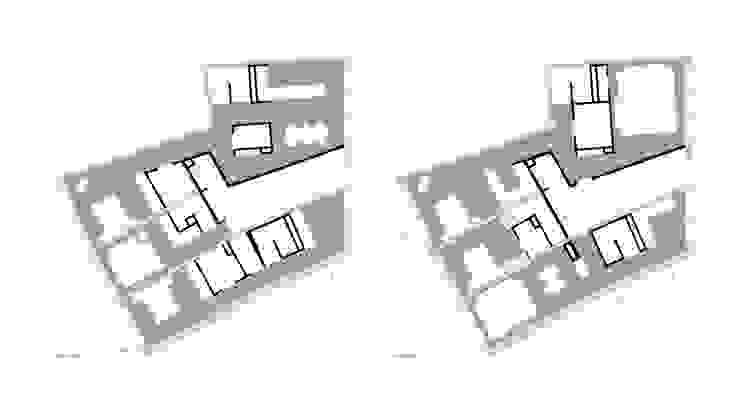 plantas Paredes e pisos minimalistas por AR arquitectura Minimalista