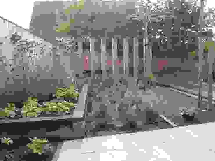 Tuin na een groeiseizoen van Van Dijk Tuinen Groningen