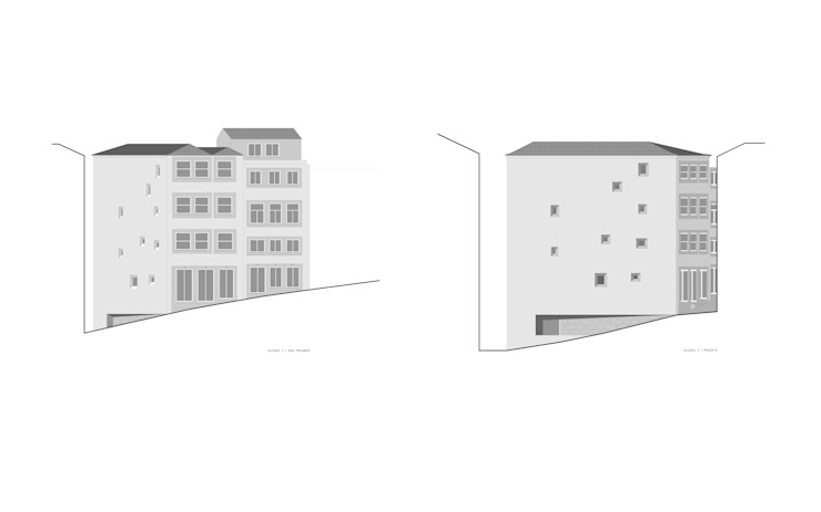 alçados Casas minimalistas por AR arquitectura Minimalista