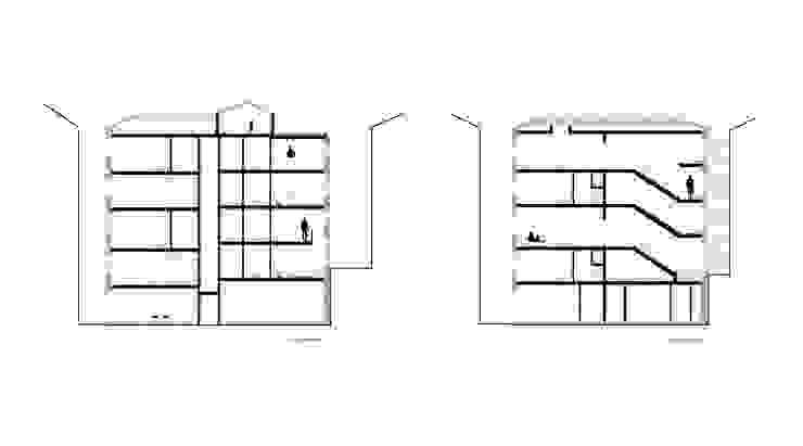 cortes Paredes e pisos minimalistas por AR arquitectura Minimalista