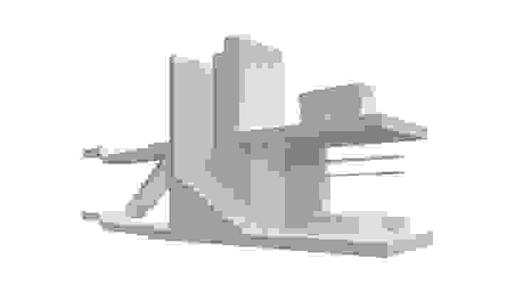 tipologia T0 Paredes e pisos minimalistas por AR arquitectura Minimalista