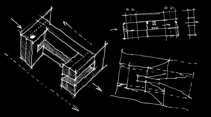 esquissos Lojas e Espaços comerciais minimalistas por AR arquitectura Minimalista