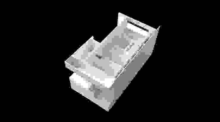 maqueta Lojas e Espaços comerciais minimalistas por AR arquitectura Minimalista