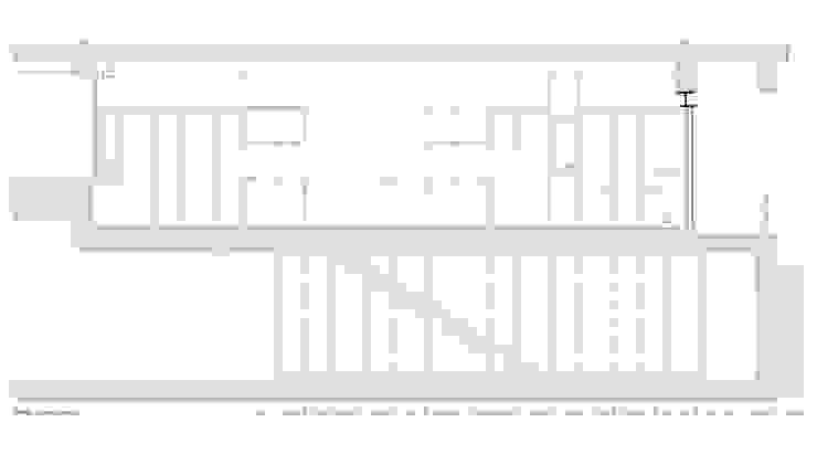 cortes longitudinais Lojas e Espaços comerciais minimalistas por AR arquitectura Minimalista