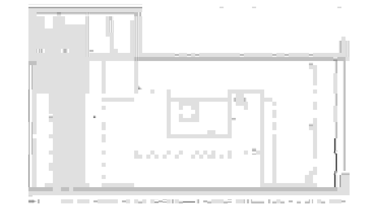 planta Lojas e Espaços comerciais minimalistas por AR arquitectura Minimalista
