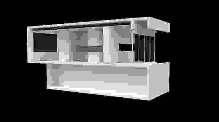 estudo 3D Lojas e Espaços comerciais minimalistas por AR arquitectura Minimalista