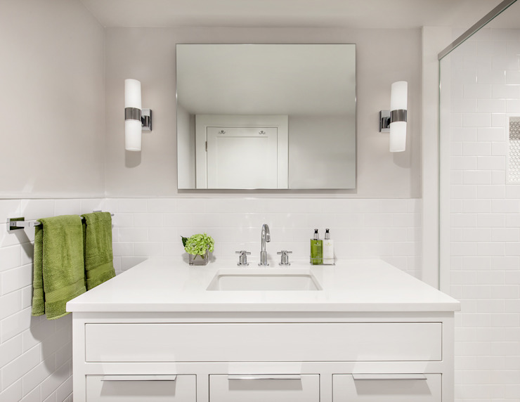 Basement Bath Clean Design Modern style bathrooms