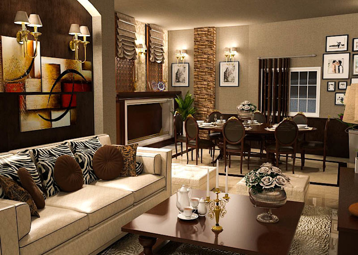 Interior Design -Apartment Classic style dining room by La Cour Classic