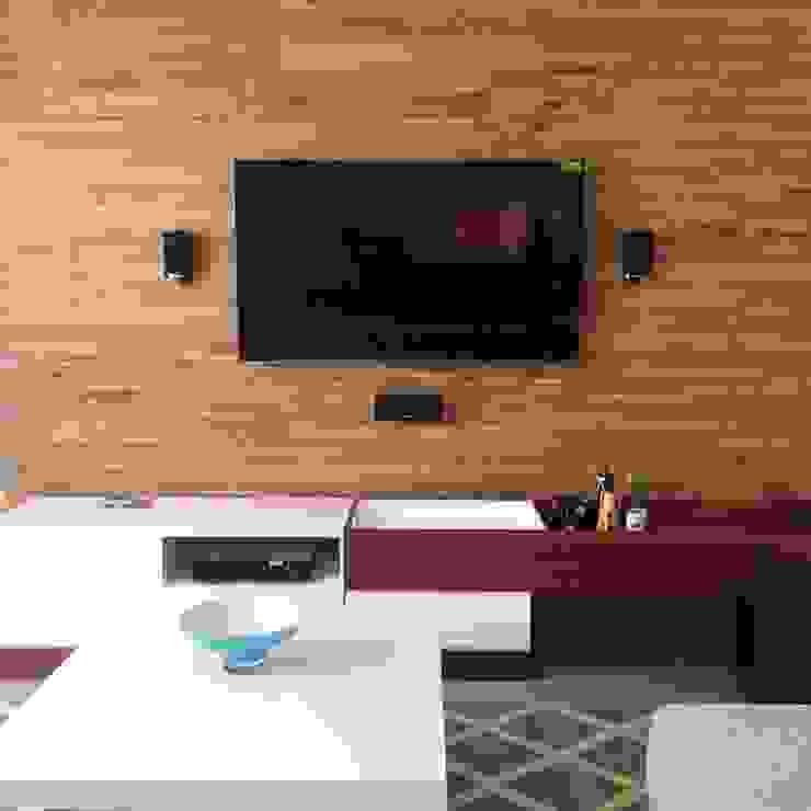 Depa RJC Salones modernos de Estudio Chipotle Moderno Madera Acabado en madera