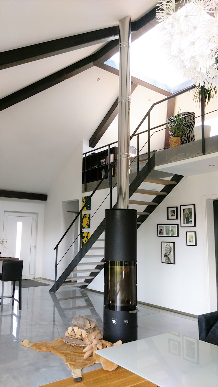 K-MÄLEON Haus GmbH Living room Grey