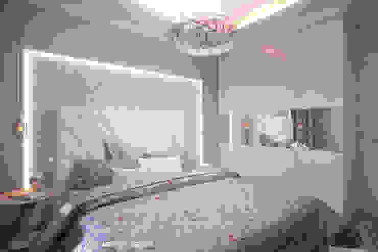 Дизайн морского интерьера трехкомнатной квартиры Спальня в эклектичном стиле от Студия Ксении Седой Эклектичный
