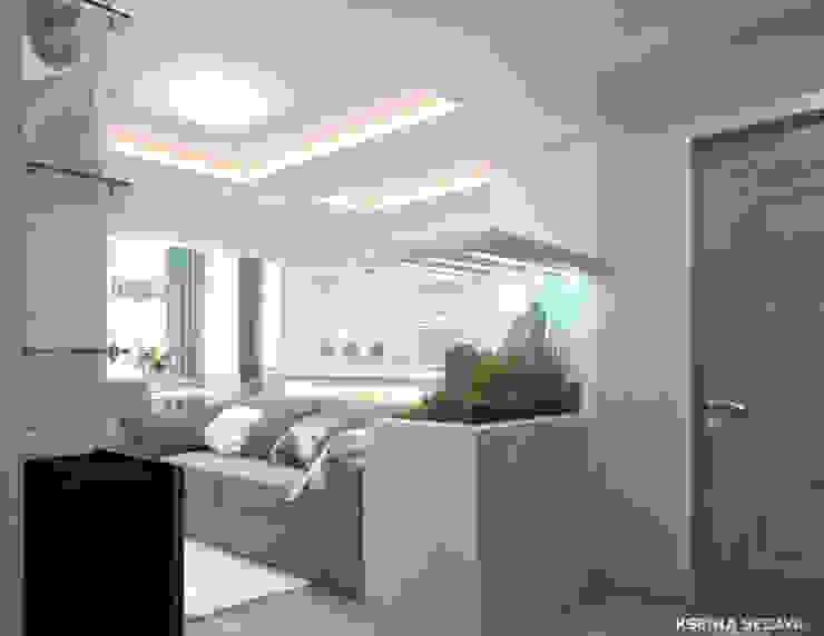 Дизайн морского интерьера трехкомнатной квартиры Коридор, прихожая и лестница в эклектичном стиле от Студия Ксении Седой Эклектичный