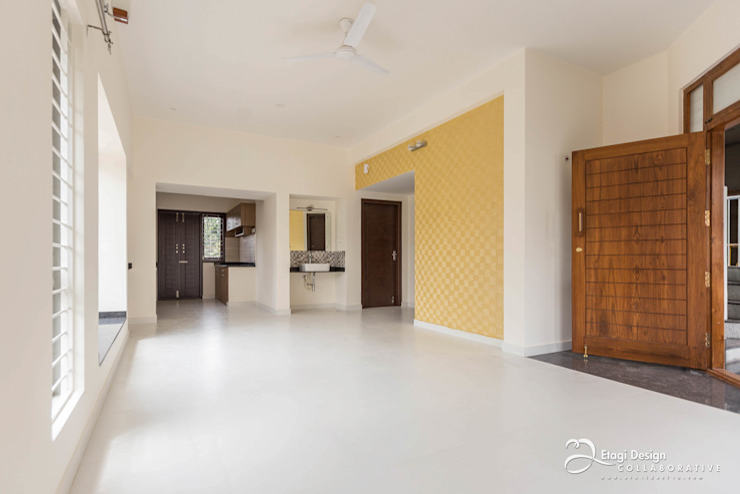 Rekha Raju Residence Modern Corridor, Hallway and Staircase by Etagi Design Collaborative Modern