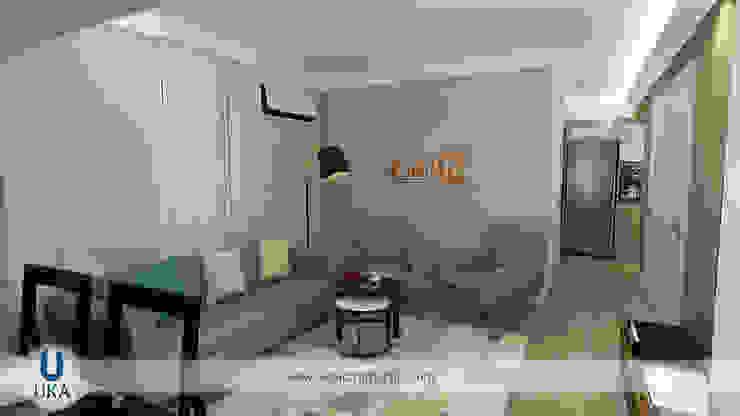 Salon minimaliste par Uka İçmimarlık Minimaliste MDF
