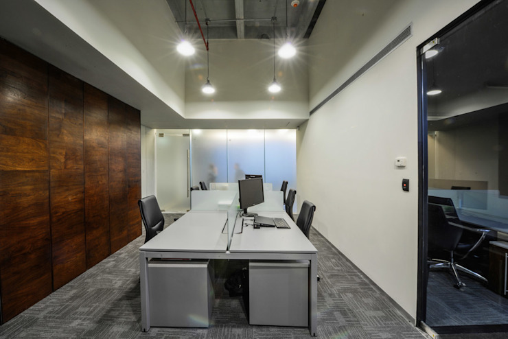 Oficinas CS - P+0 Arquitectura Estudios y despachos modernos de pmasceroarquitectura Moderno Concreto