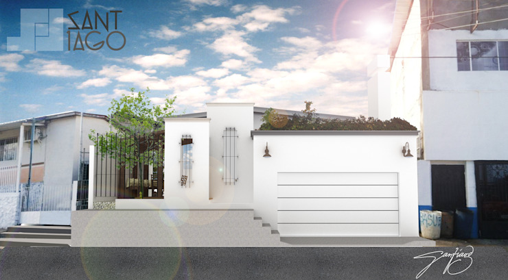 Fachada Principal Frente Casas minimalistas de SANT1AGO arquitectura y diseño Minimalista Ladrillos