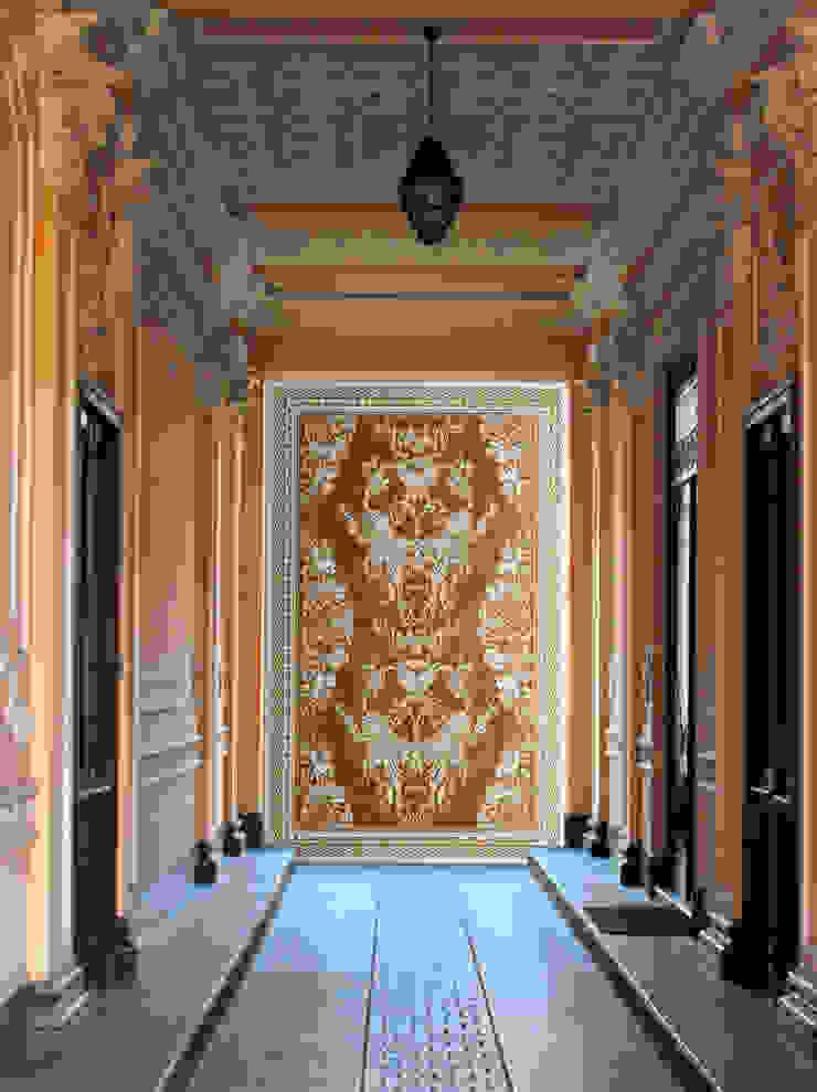 Elalux Tile Mediterranean style corridor, hallway and stairs Marble Orange
