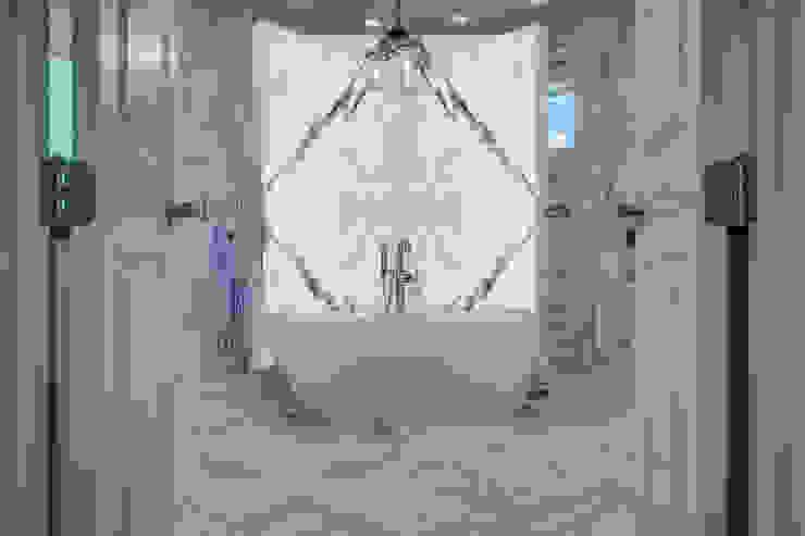 Marble Slabs Elalux Tile Mediterranean style bathrooms Marble White