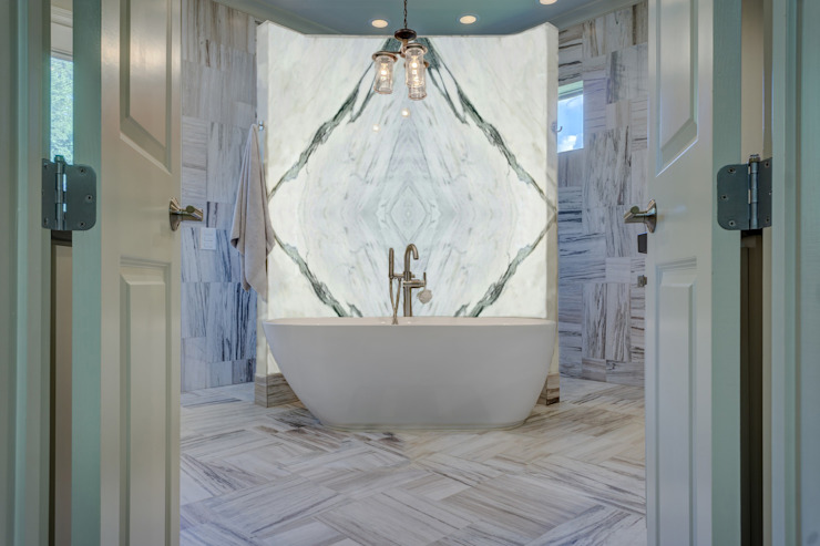 Elalux Tile Mediterranean style bathroom Marble White