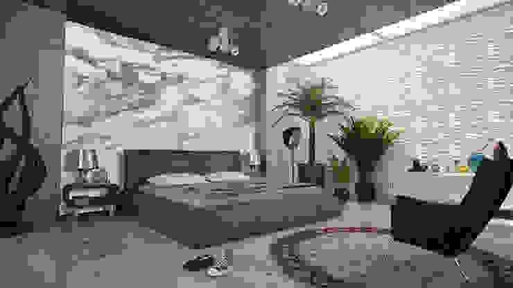 Elalux Tile Modern style bedroom Marble Grey