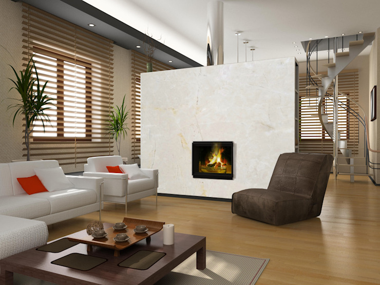 Elalux Tile Modern living room Marble Beige