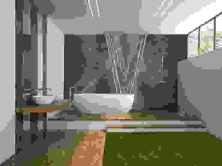 Elalux Tile Modern bathroom Marble Grey