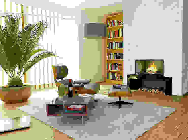 Elalux Tile Modern living room Marble White