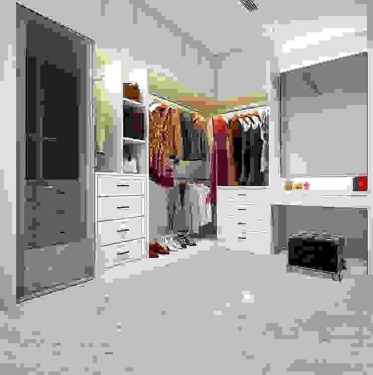 Elalux Tile Modern dressing room Marble White