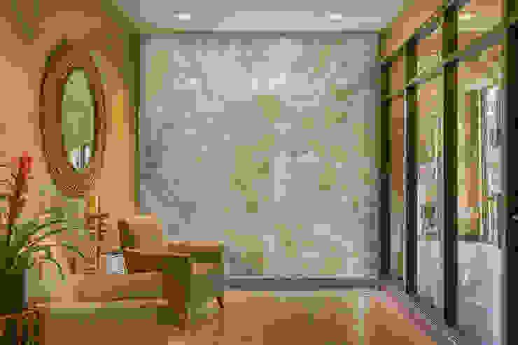Elalux Tile Mediterranean style corridor, hallway and stairs Marble Green
