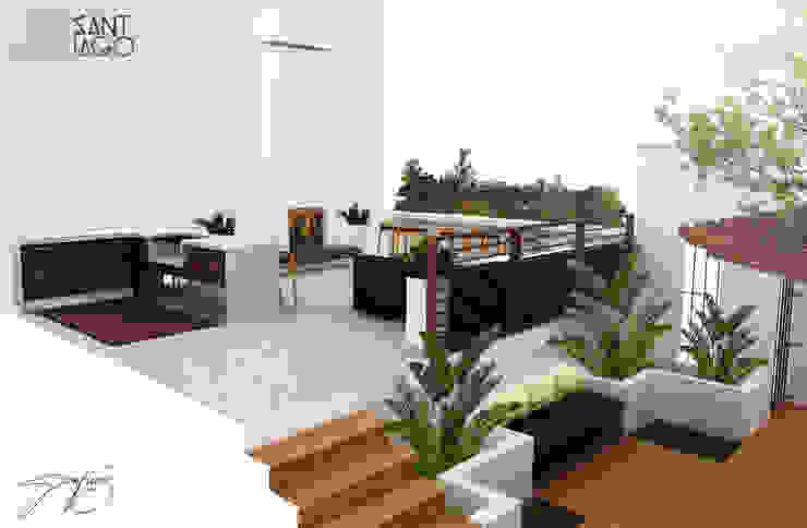 Terraza Balcones y terrazas minimalistas de SANT1AGO arquitectura y diseño Minimalista