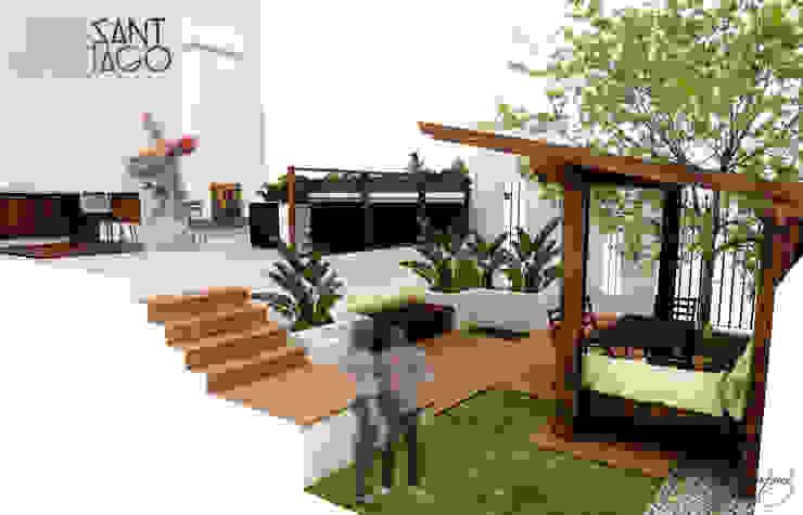 Proyecto RR Balcones y terrazas minimalistas de SANT1AGO arquitectura y diseño Minimalista