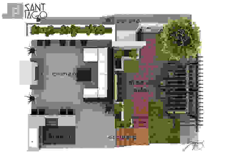 Planta Arquitectonica de SANT1AGO arquitectura y diseño Minimalista