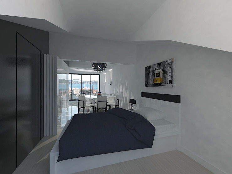 Bedroom by Projectos Arquitectura & 3D, Modern
