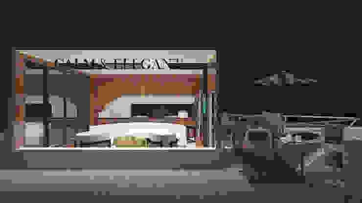Stand de Vendas Locais de eventos modernos por Projectos Arquitectura & 3D Moderno