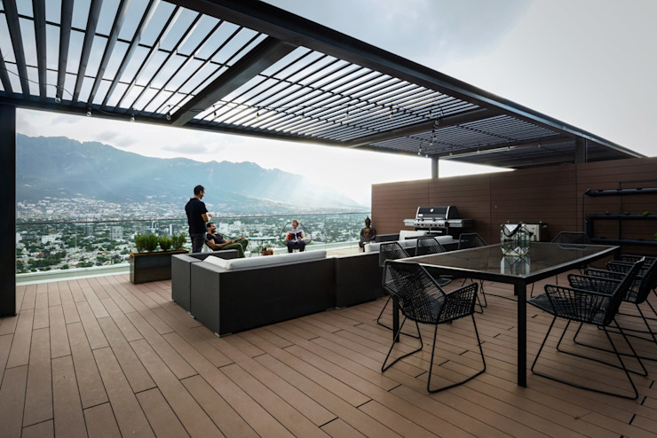 Modern style balcony, porch & terrace by pmasceroarquitectura Modern
