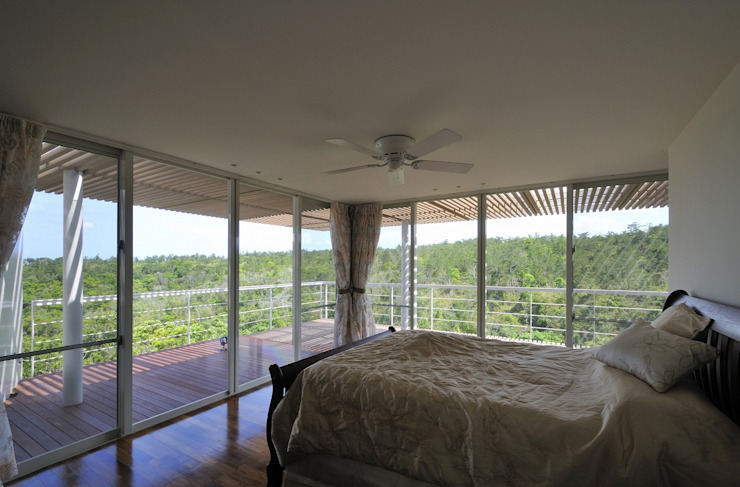Sh-house モダンスタイルの寝室 の 仲間郁代建築設計事務所株式会社(英名:IKUYO NAKAMA ARCHITECT & ASSOCIATES) モダン